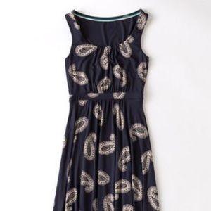 Boden Navy Paisley Sleeveless Dress